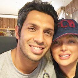 عکس ولنتاین سپهر حیدری در کنار همسر و فرزندش