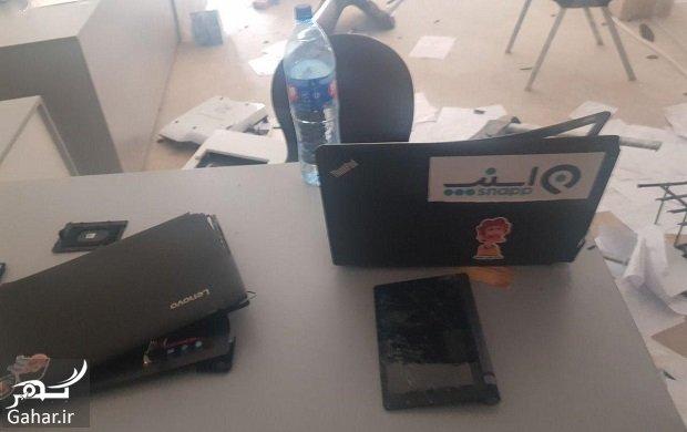 snap kerman حمله به دفتر اسنپ در کرمان + فیلم