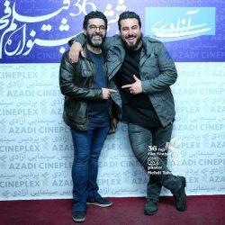 محسن کیایی و برادرش به همراه همسرانشان در جشنواره فیلم فجر ۳۶ / ۳ عکس