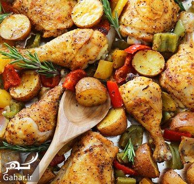 chicken2 potato1 دستور تهیه مرغ و سیب زمینی تنوری