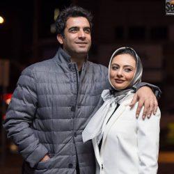 تصاویر جدید یکتا ناصر و همسرش در اکران فیلم آینه بغل / ۶ عکس
