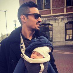 عکسهای جدید رضا قوچان نژاد و همسر و فرزندش