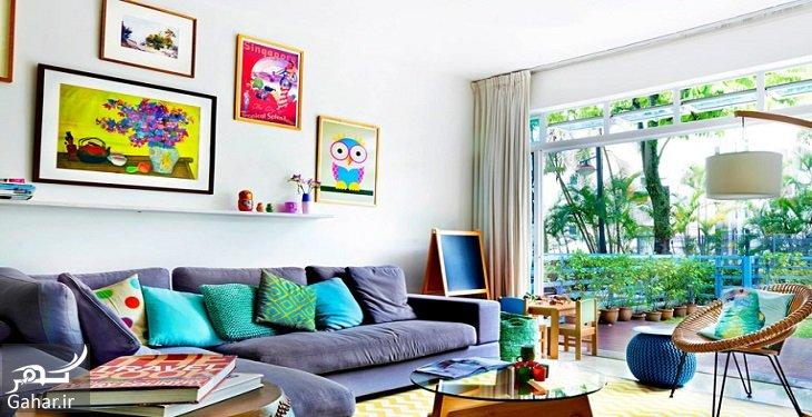 5 colorful home decoration ideas 5 قانون طلایی برای داشتن خانه ای شیک و منحصر به فرد