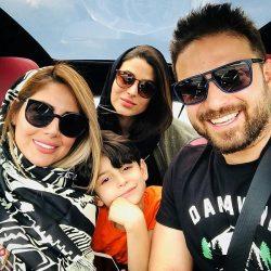 تفریحات بابک جهانبخش و خانواده اش در کاشان / ۳ عکس