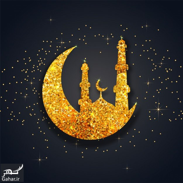 fantastic background with glittering mosque and moon 1302 4210 پیام تبریک ماه مبارک رمضان / پیام تبریک ماه رمضون