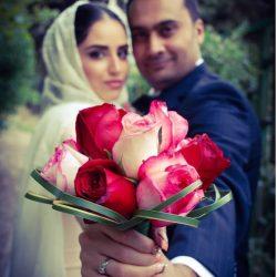 عکسهای دیدنی از اولین سالگرد ازدواج هانیه غلامه و همسرش