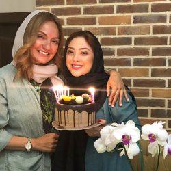 جشن تولد ۴۱ سالگی مهناز افشار در کنار خواهرش و مریم سلطانی / ۵ عکس
