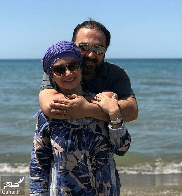 عکسهای جدید برزو ارجمند و همسر و پسرش, جدید 1400 -گهر