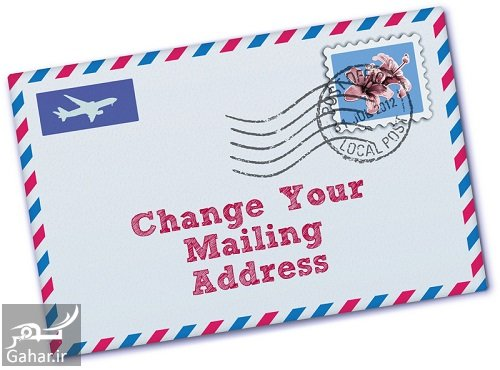 change your address before you move نحوه نوشتن آدرس به انگلیسی
