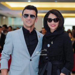 استایل لاکچری امین حیایی و همسرش در جشن حافظ ۹۷ / ۳ عکس