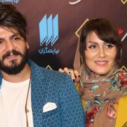 عباس غزالی و همسرش در اکران خصوصی همه چی عادیه / ۳ عکس