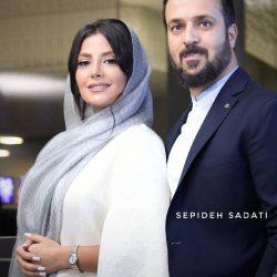 احمد مهرانفر و همسرش در اکران خصوصی راه رفتن روی سیم / ۷ عکس