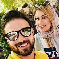 عکس بابک جهانبخش و همسرش در یک رستوران دنج