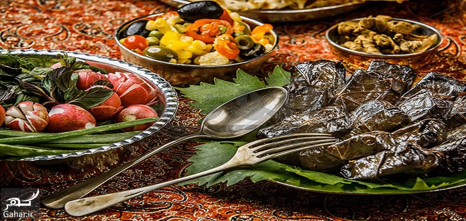 iranian dolma with grape leaves خوشمزه ترین اعضای جدا نشدنی از سفره های ایرانی