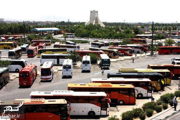 معرفی ترمینال ها و پایانه های اتوبوس در تهران, جدید 1400 -گهر