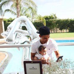 عکسهای جشن تولد رضا قوچان نژاد در کنار همسر و پسرش