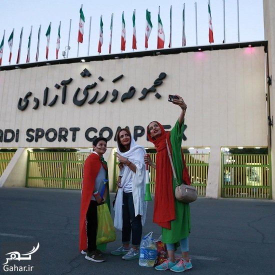 banovan azadi عکس دختران ایرانی در ورزشگاه آزادی بازی ایران بولیوی