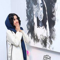 عکسهای دیدنی الهه حصاری در افتتاحیه گالری آناهیتا درگاهی