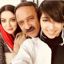 عکس علی اوسیوند به همراه همسر و دخترش در تولدش