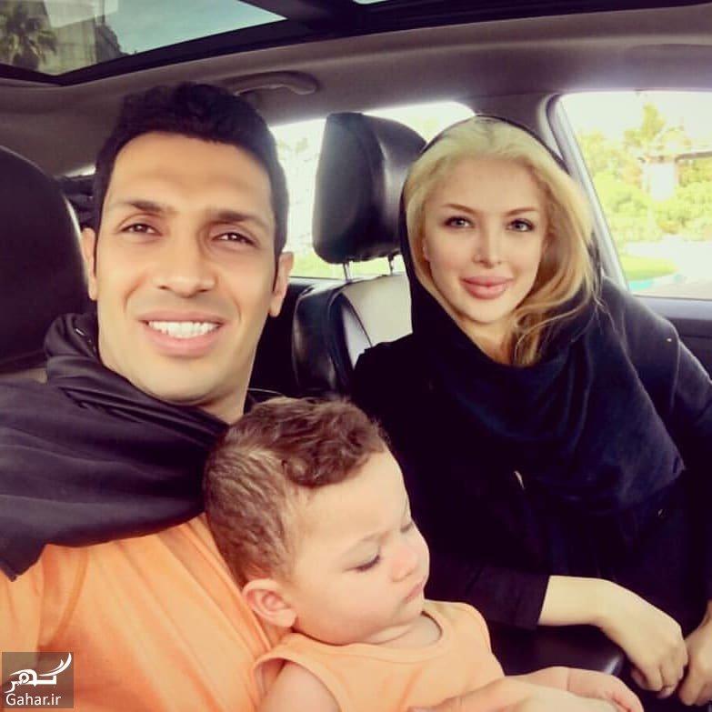 46841162 373429773223058 4914656922803866355 n عکس خانوادگی سپهر حیدری در کنار همسرش و پسرش
