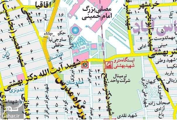 Cmap1 آدرس گمرک غرب تهران
