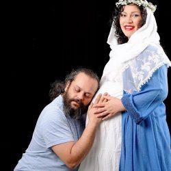 زیبا بروفه عزادار همسرش شد / عکس