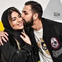 عکسهای نامتعارف محسن افشانی و همسرش در اکران پارادایس