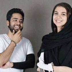 عکس سارا خادم الشریعه و همسرش بعد از قهرمانی