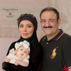 عکسهای آتلیه ای مهران غفوریان و همسر و دخترش
