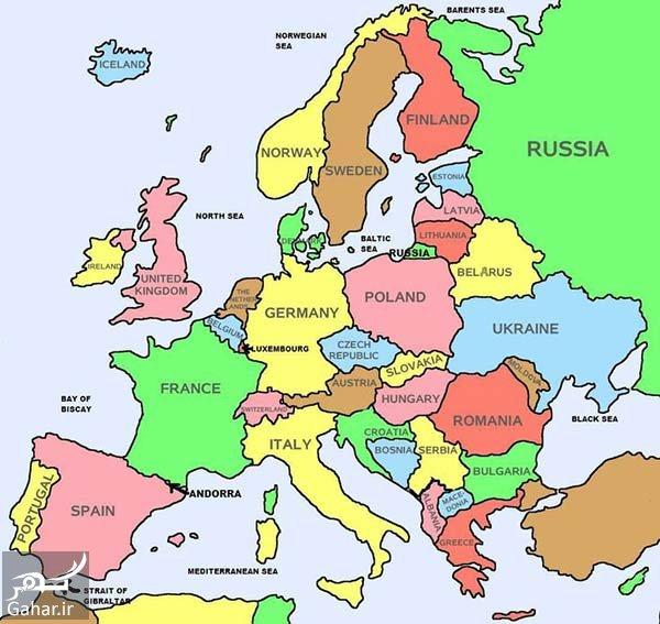 کشورهای اروپایی کدامند و اروپا چند کشور دارد؟, جدید 1400 -گهر
