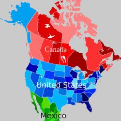 قاره آمریکای شمالی کجاست و شامل چه کشورهایی است؟