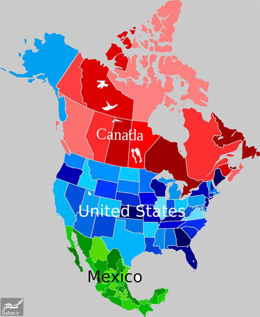 قاره آمریکای شمالی کجاست و شامل چه کشورهایی است؟, جدید 1400 -گهر