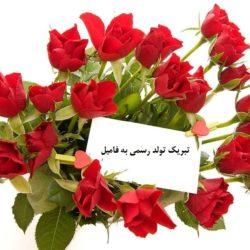 تبریک تولد رسمی به فامیل