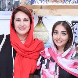 ست جالب فاطمه گودرزی و پسر و عروسش در جشن حافظ