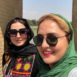 عکسهای دیدنی نرگس محمدی و خواهرش در اصفهان