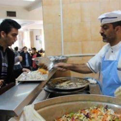 نرخ غذای دانشجویی