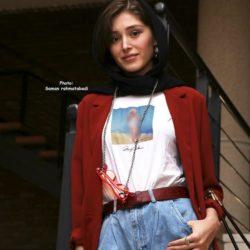 استایل عجیب فرشته حسینی در اختتامیه جشنواره فیلم کوتاه / ۵ عکس