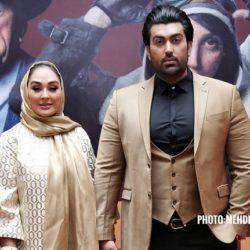 عکسهای الهام حمیدی و همسرش در اکران خصوصی مسخره باز