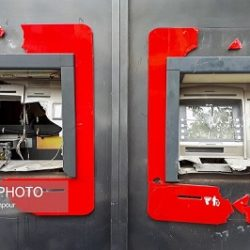 تصاویری از تخریب اموال عمومی توسط معترضین