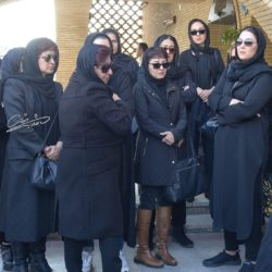 عکسهای بازیگران در مراسم تشییع مجید اوجی