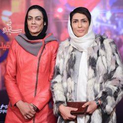 عکس خواهران منصوریان در اکران مطرب