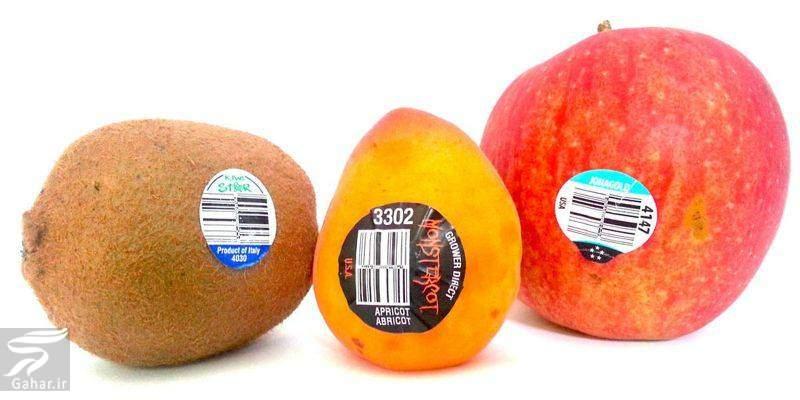 barchasb دانستنیهایی جالب درباره برچسب روی میوه ها