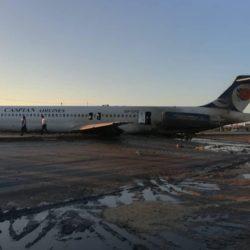 خدا رحم کرد! خروج هواپیما از باند فرودگاه در ماهشهر