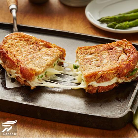 Recipe Landing Mozzarella Asparagus Grilled Sandwich Mobile طرز تهیه ساندویچ موتزارلا (اسنک ایتالیایی موتزارلا)
