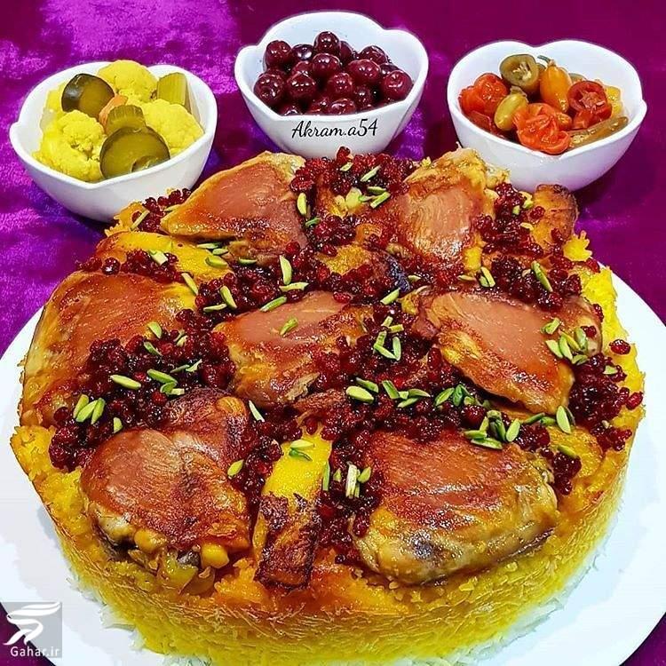 tah andaze muorgh دستور پخت ته انداز مرغ زعفرانی