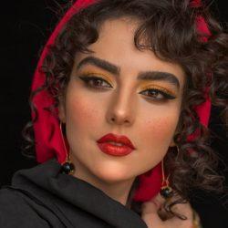 تصاویری از میکاپ متفاوت سارا محمدی خواهر نرگس محمدی