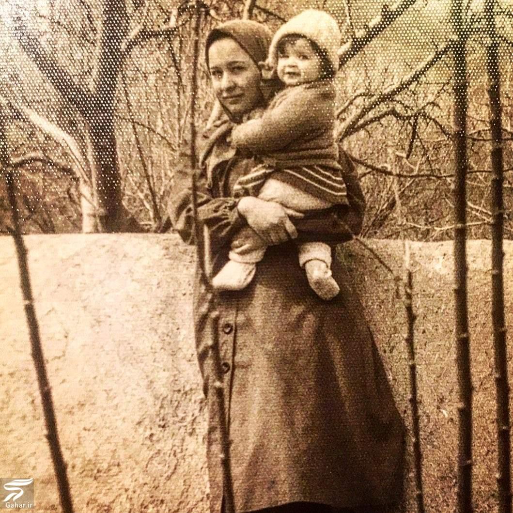 عکس بامزه و تپلی از کودکی مهراوه شریفی نیا در آعوش مادرش, جدید 1400 -گهر
