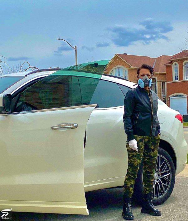 تیپ جنگی روناک یونسی برای رفتن به خرید با مازراتی! + عکس, جدید 1400 -گهر