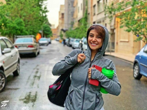 الناز حبیبی با لباس ورزشی در خیابان + عکس, جدید 1400 -گهر