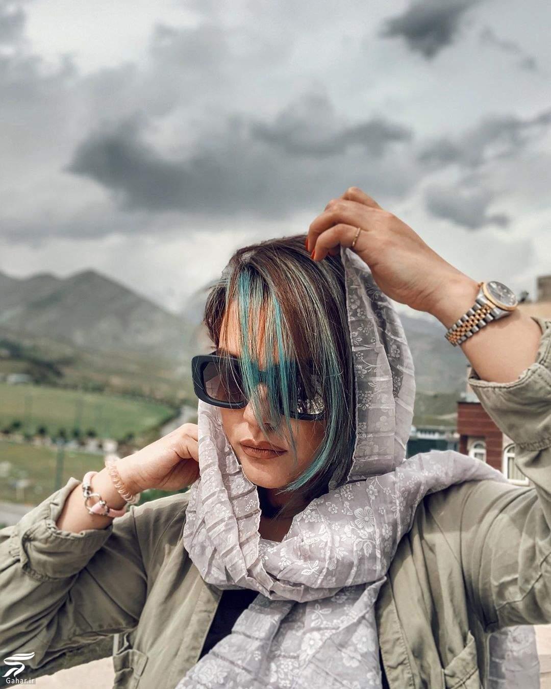 عکس جدید دنیا مدنی با موهای آبی !, جدید 1400 -گهر